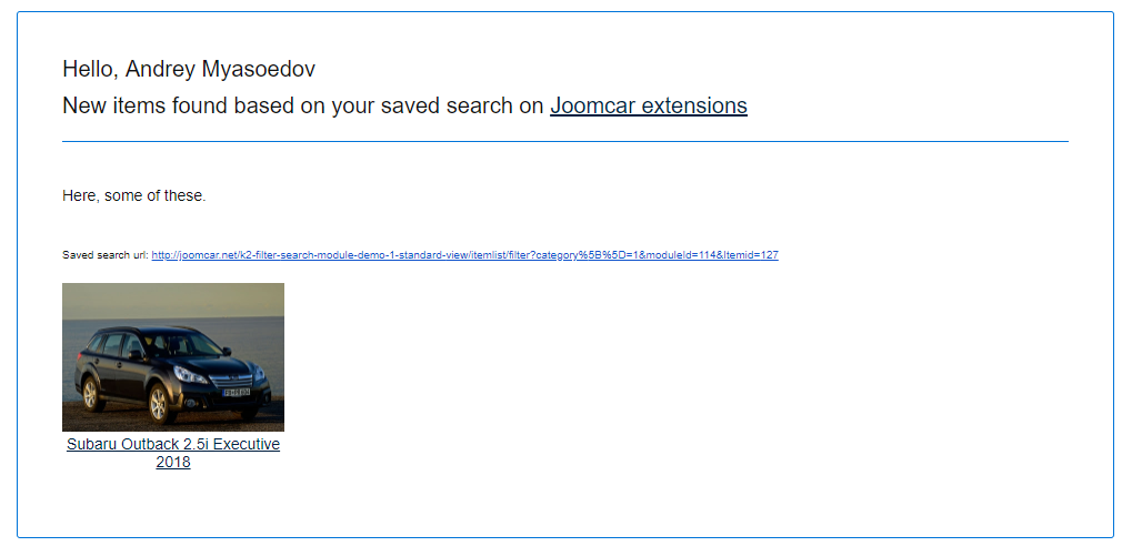 Joomla K2 Search Alerts (save search)